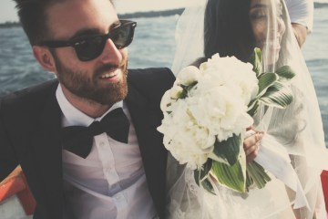 cool wedding couple | claire eliza photography