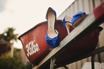 blue satin bow shoes | julian beattie photography
