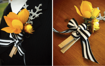 DIY Clothespin Boutonnieres {& More} By Anna Lee Company