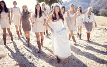 Rustic Chic, DIY Farmhouse Wedding: The Bride Wore Boots