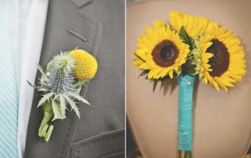 sunflower wedding bouquet   sweet little photographs