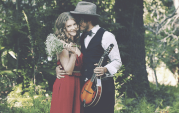 Lady In Red: A Rustic, Glam Engagement Shoot In The Woods