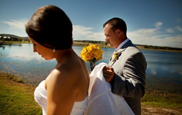 Modern, Rustic Yellow & Grey Ranch Wedding ~ The Film