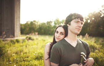 Email Love Letters, Graffiti & Fields: A Modern Engagement Shoot