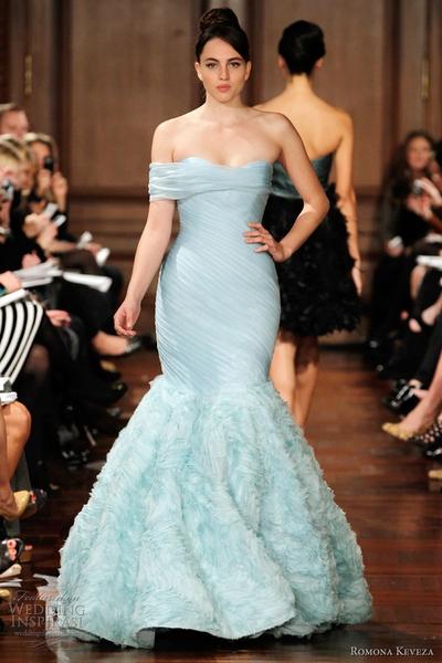 Romona Keveza Blue Dress