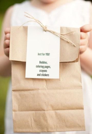 children's goody bag for wedding