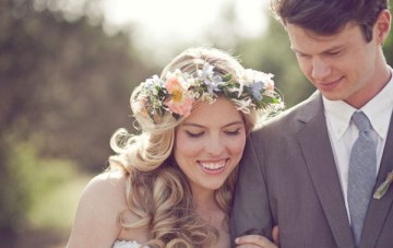 30 Beautiful Flower Crowns For Boho Brides + DIY Tutorials