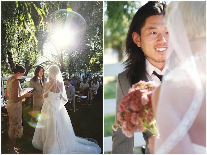 Wedding Dresses Under 500: DIY Picnic Paper Crane Wedding
