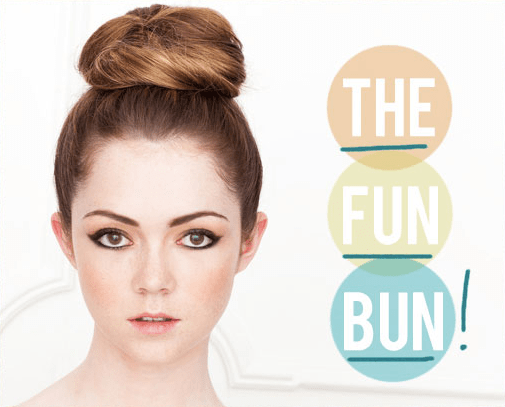 the fun bun hair tutorial by the beauty department