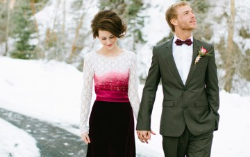 Magical Winter Wedding Shoot: Roses, Snow & Red Velvet