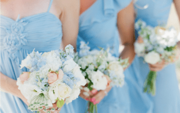 Peach And Pale Blue Beach Chic Wedding Inspiration