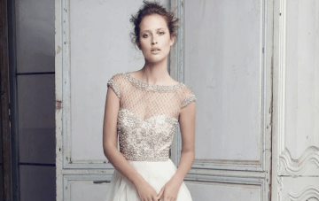 Wedding Dress Of The Week: Lattice Pearls Beaded Bodice Gown by Collette Dinnigan