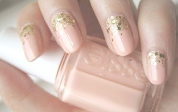 DIY Nude Nails With A Touch Of Sparkle