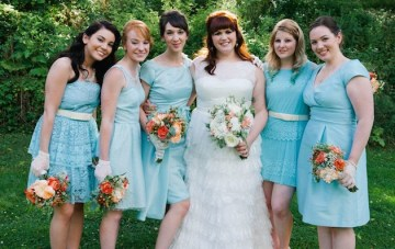 Aqua & Orange Modern Vintage DIY Wedding Part 1