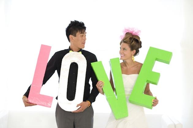 Neon wedding, boda fleur