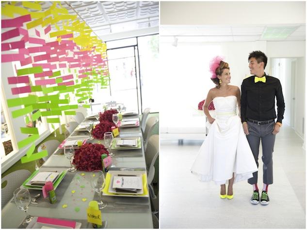 neon wedding, fleur boda