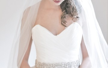 Enchanted Atelier Bridal Accessories Martine Sash and Poeme Veil