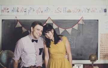 Quirky School Themed Engagement Shoot Inspiration