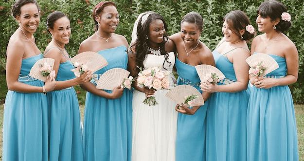 Unique Pink & Blue British / Caribbean / African Wedding