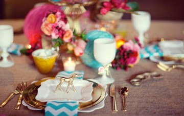 Turquoise and Fushia Wedding Ideas and Inspiration