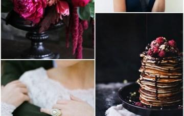 Chic Black, White & Berry Wedding Inspiration Board