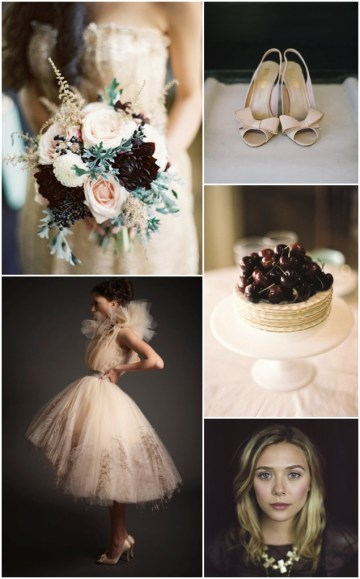 Nude, Maroon & A Touch Of Gold Wedding Inspiration