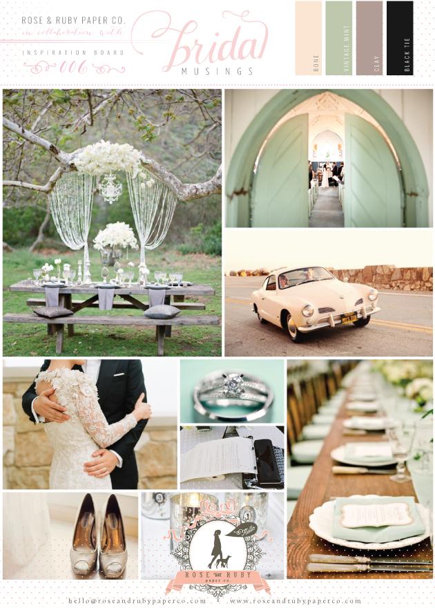 Retro Mint Wedding Inspiration Board