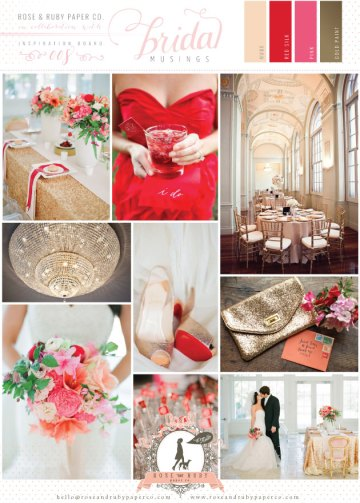 Rose-&-Ruby-Wedding-Inspiration-Board-8-Chandelier-Red-Silk-Pink-Sequins