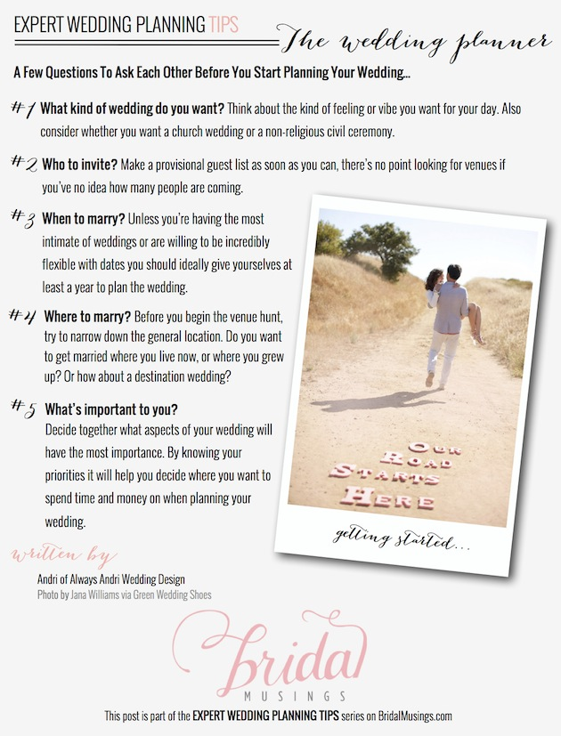 Tips For Newly Engaged Couples by Always Andri Wedding Design