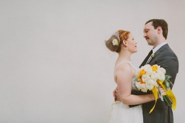 Retro Grey and Yellow Garden Wedding | With Love And Embers 22