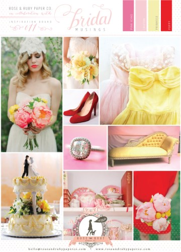 Rose-&-Ruby-Wedding-Inspiration-Board-11-Pink-Icing-Chiffon-Yellow-Primrose