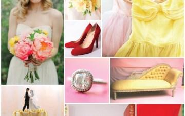 Rose-&-Ruby-Wedding-Inspiration-Board-11-Pink-Icing-Chiffon-Yellow-Primrose