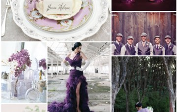 Lilac, Lavendar and Gold Wedding Inspiration