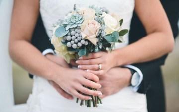 Chic Black, White & Silver Grey Winter Wedding