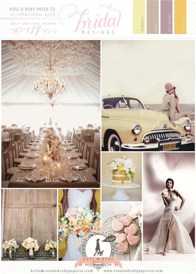 Vintage 50s Yellow & Mauve Wedding Inspiration