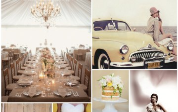 Vintage 50s Yellow & Mauve Wedding Inspiration
