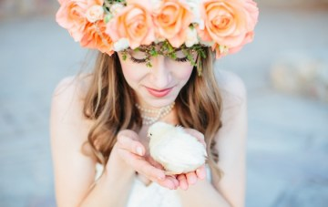 Whimsical Peach, Orange & Aqua Bridal Shoot