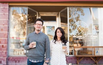 coffee shop engagement shoot | Limelife Photography 0
