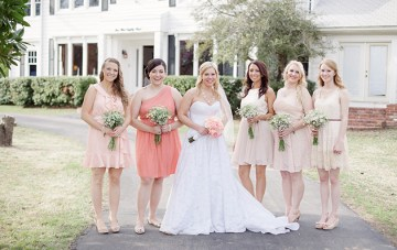 Teal and Peach Country Chic Wedding