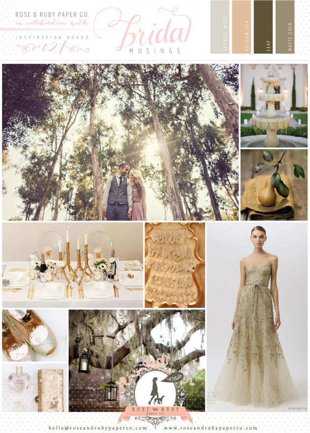Golden Forest Wedding Inspiration Board by Rose & Ruby ...
