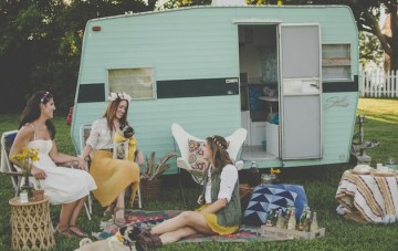 Retro Glamping Bachelorette Party By Zipporah Photography
