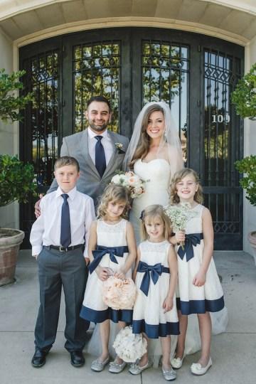 Navy and Peach Wedding   Anita Martin Photography   Bridal Musings 41