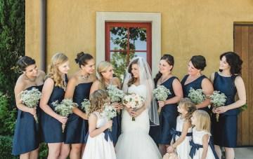 Navy and Peach Wedding   Anita Martin Photography   Bridal Musings 42
