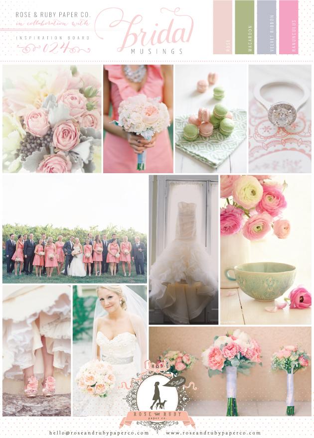 Perfectly Pretty Pink & Green Wedding Inspiration Board