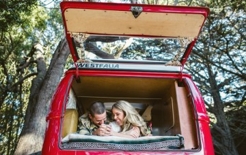 Cosy VW Camper Van Engagement Shoot