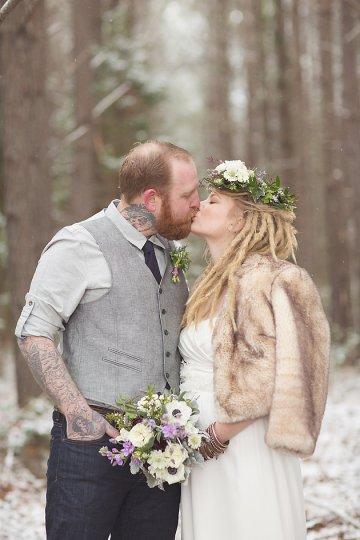Magical Winter Forest Wedding Inspiration Shoot | Jenny Cruger | Bridal Musings Wedding Blog34