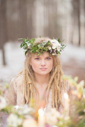 Magical Winter Forest Wedding Inspiration Shoot | Jenny Cruger | Bridal Musings Wedding Blog35