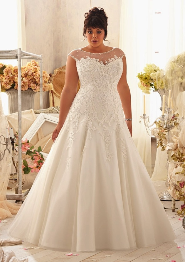 1e6e00975580c That includes girls of all sizes! The Julietta Collection is filled with  elegant wedding dresses. Mori Lee ...