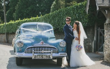 Pretty Pastel Wedding in Wales: Vintage Cars & Sharp Suits