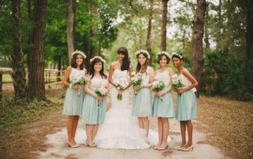 Blush and Mint Rustic DIY Wedding | Beca Companioni Photography | Bridal Musings Wedding Blog 26